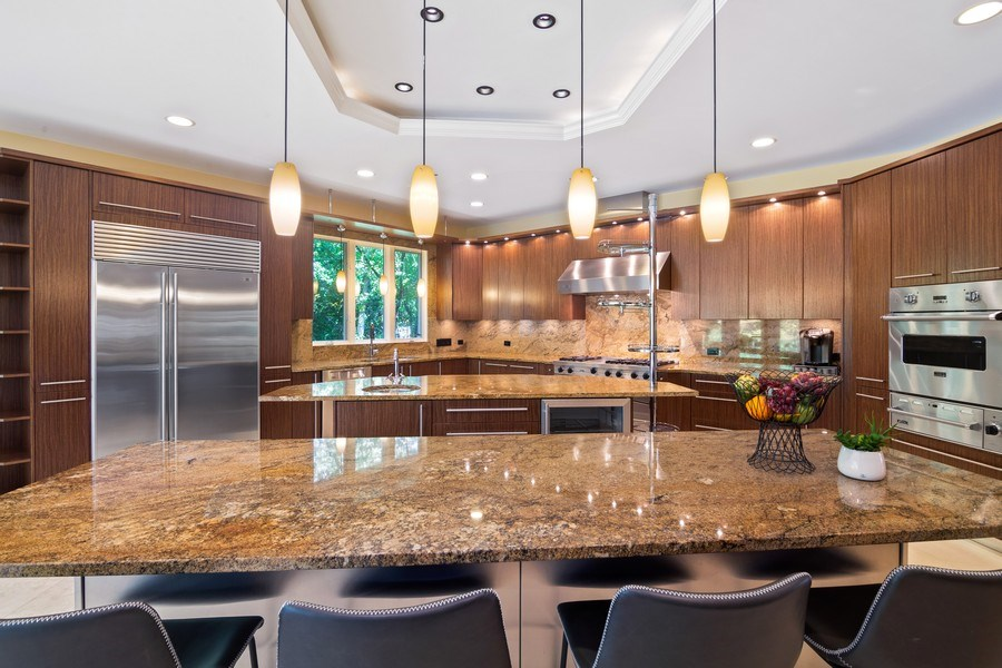 Real Estate Photography - 1660 ROBINWOOD Lane, Riverwoods, IL, 60015 - Very large kitchen, immense amount of cabinets and