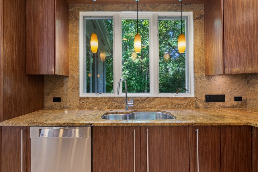 Real Estate Photography - 1660 ROBINWOOD Lane, Riverwoods, IL, 60015 - Kitchen features top of the line SS appliances