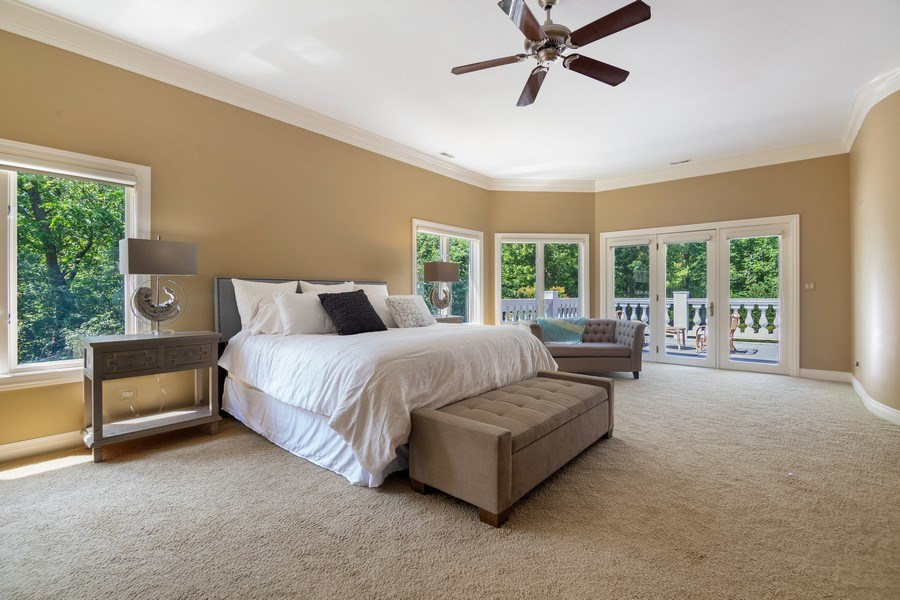 Real Estate Photography - 1660 ROBINWOOD Lane, Riverwoods, IL, 60015 - master with private balcony