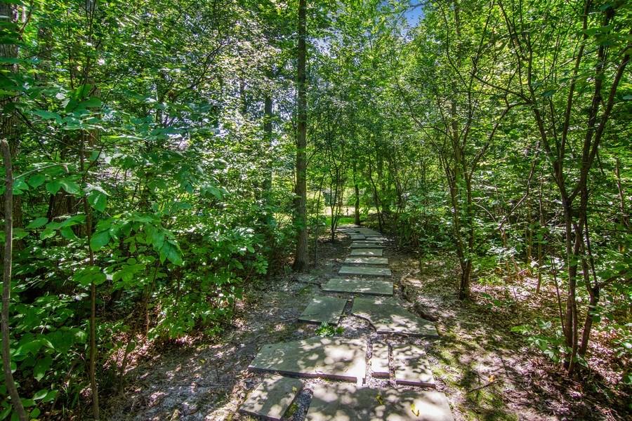 Real Estate Photography - 1660 ROBINWOOD Lane, Riverwoods, IL, 60015 - Walk thru woods to tennis court
