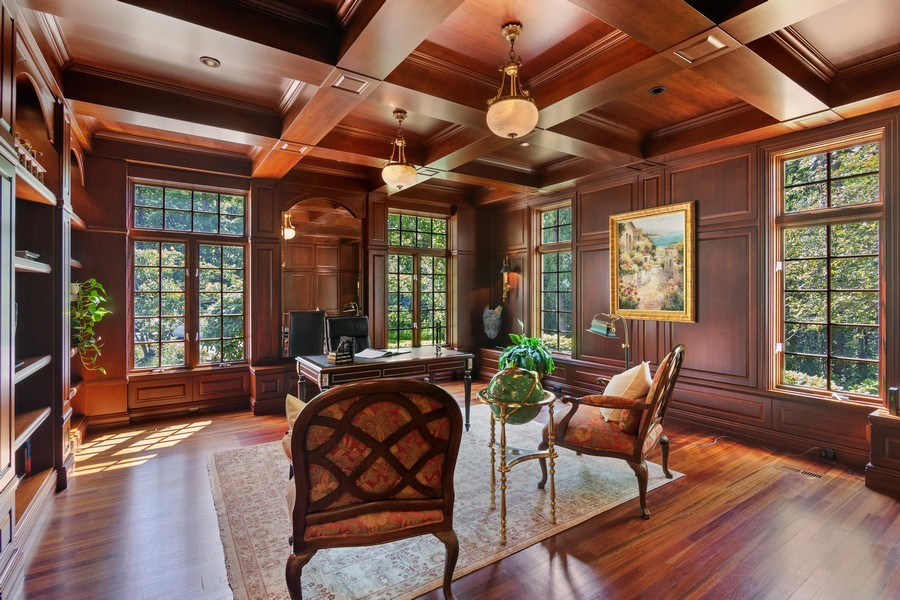 Real Estate Photography - 1660 ROBINWOOD Lane, Riverwoods, IL, 60015 - Exquisite floor office