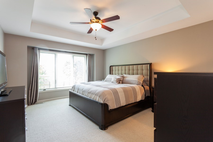 Real Estate Photography - 7 Fenview Ct, Bolingbrook, IL, 60440 - 1st floor master bedroom