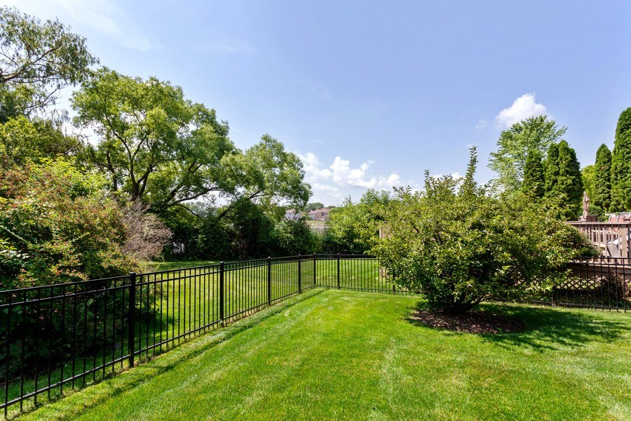 Real Estate Photography - 7 Fenview Ct, Bolingbrook, IL, 60440 - Back yard and pond view