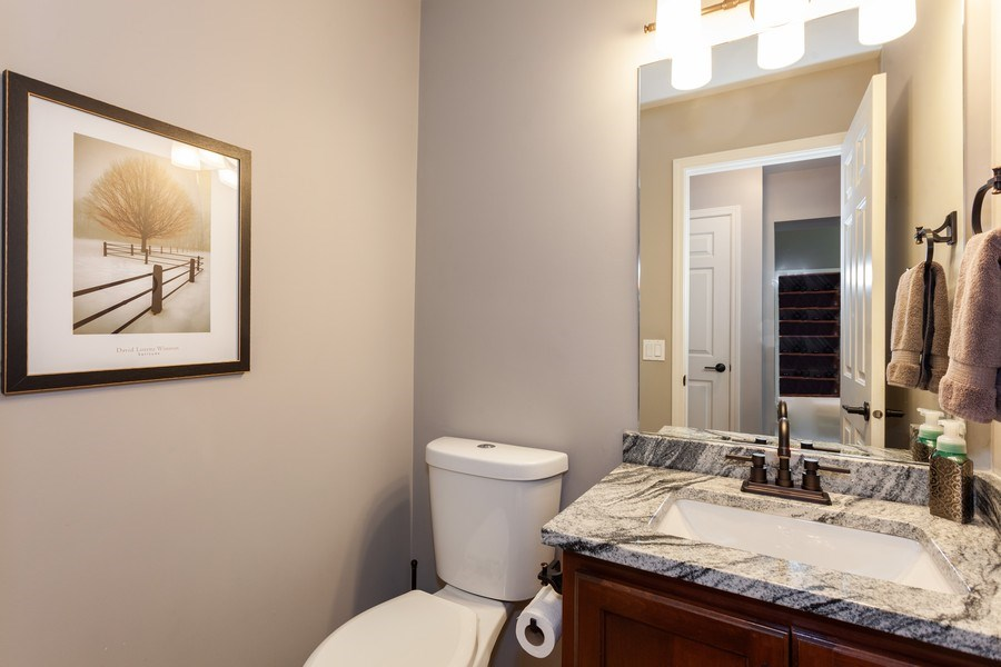 Real Estate Photography - 7 Fenview Ct, Bolingbrook, IL, 60440 - 1st floor powder room