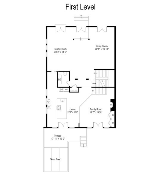 Real Estate Photography - 1717 N. HERMITAGE Avenue, Chicago, IL, 60622 - Floor Plan