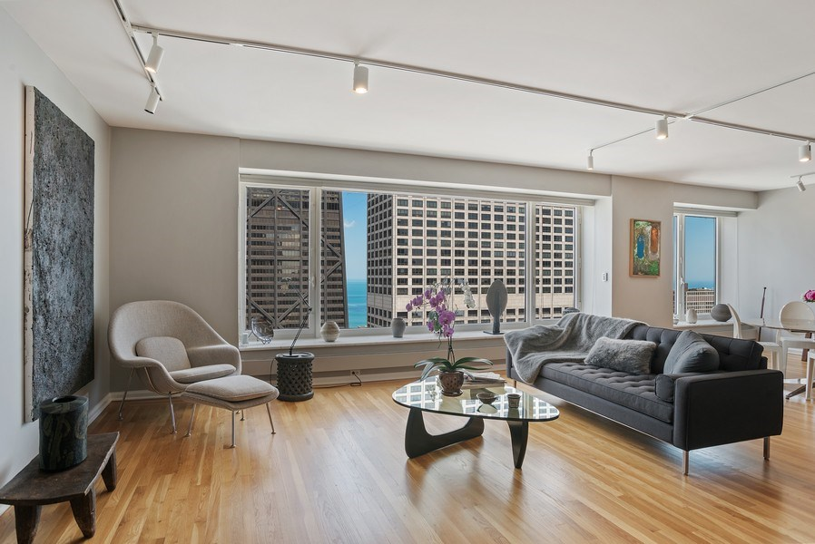 Real Estate Photography - 161 E Chicago, 34H, Chicago, IL, 60611 - Living Room