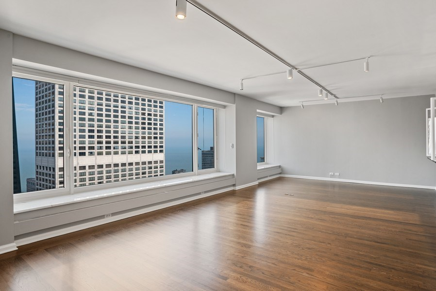 Real Estate Photography - 161 E Chicago, 34H, Chicago, IL, 60611 - Living Room/Dining Room