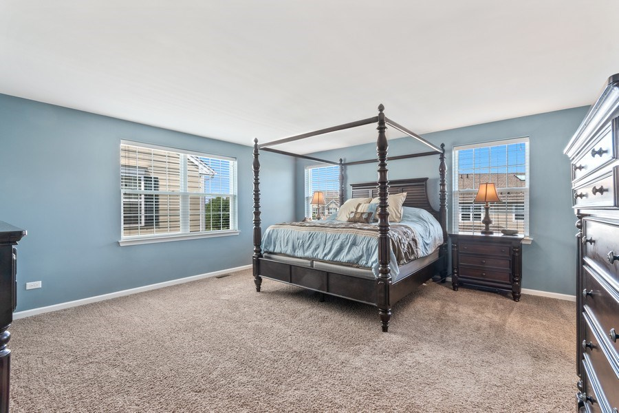 Real Estate Photography - 1212 Falcon Ridge Dr, Elgin, IL, 60124 - Spacious Master Suite w/ Large Walk-in Closet