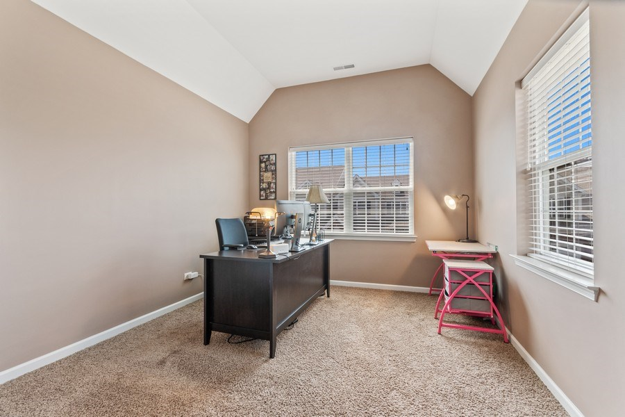 Real Estate Photography - 1212 Falcon Ridge Dr, Elgin, IL, 60124 - 3rd Bedroom w/Vaulted Ceiling