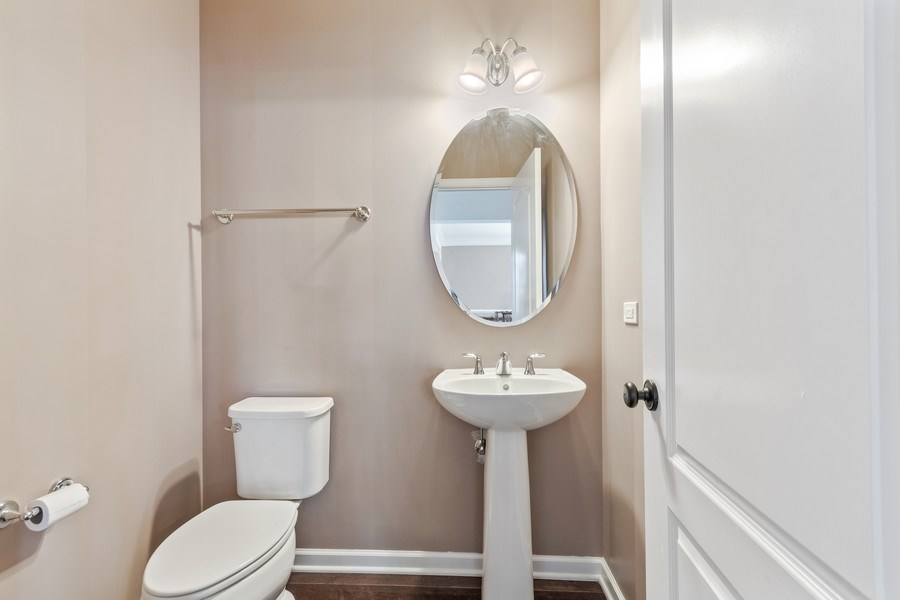 Real Estate Photography - 1212 Falcon Ridge Dr, Elgin, IL, 60124 - Large Half Bath on Main Level