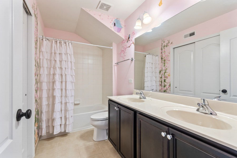 Real Estate Photography - 1212 Falcon Ridge Dr, Elgin, IL, 60124 - 2nd Bath w/Dual Sinks and Large Closet