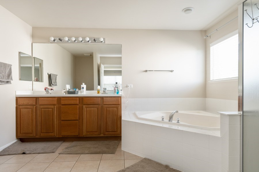 Real Estate Photography - 1834 Heather, Bolingbrook, IL, 60490 - Master Bathroom