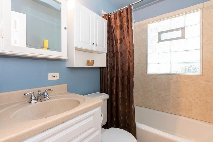 Real Estate Photography - 806 Spruce Court, Streamwood, IL, 60107 - Bathroom