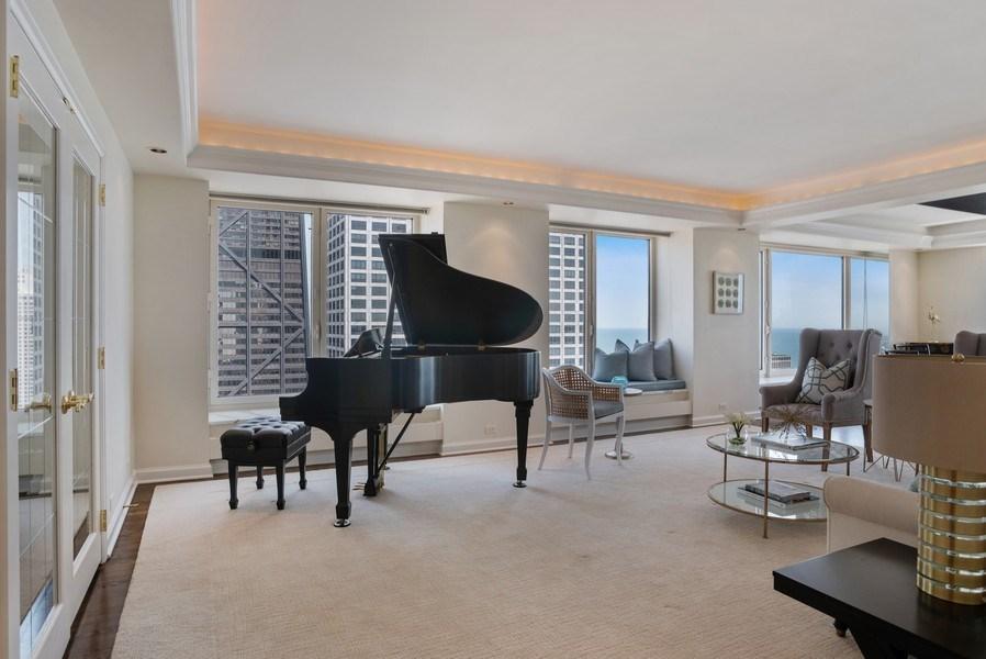 Real Estate Photography - 161 E. CHICAGO Avenue, Unit 37A, Chicago, IL, 60611 - Living Room