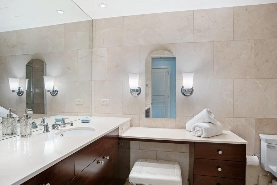 Real Estate Photography - 161 E. CHICAGO Avenue, Unit 37A, Chicago, IL, 60611 - Her Bathroom