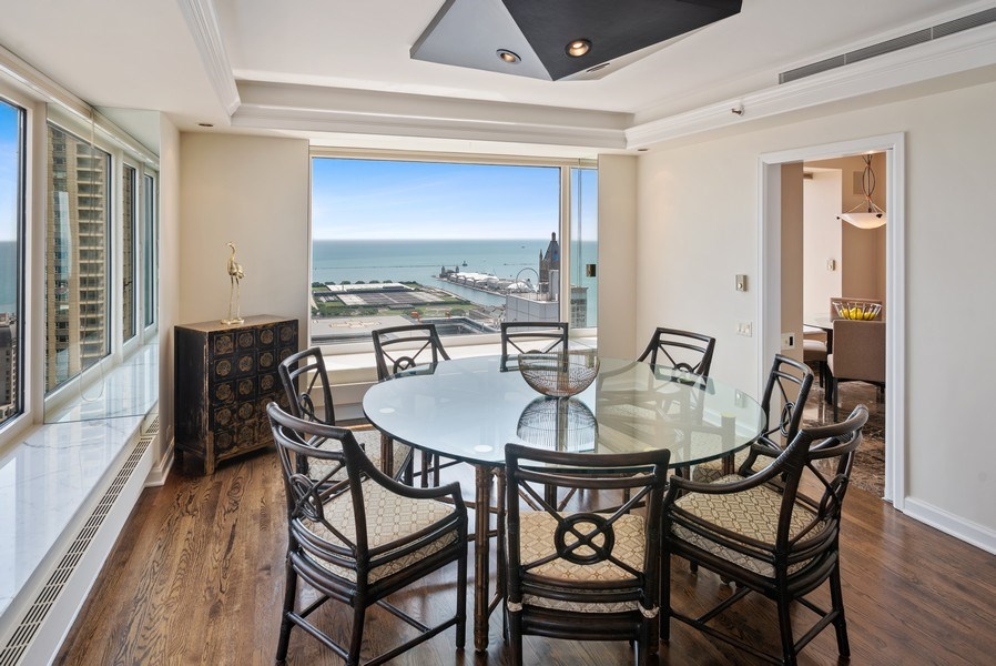 Real Estate Photography - 161 E. CHICAGO Avenue, Unit 37A, Chicago, IL, 60611 - Dining Room