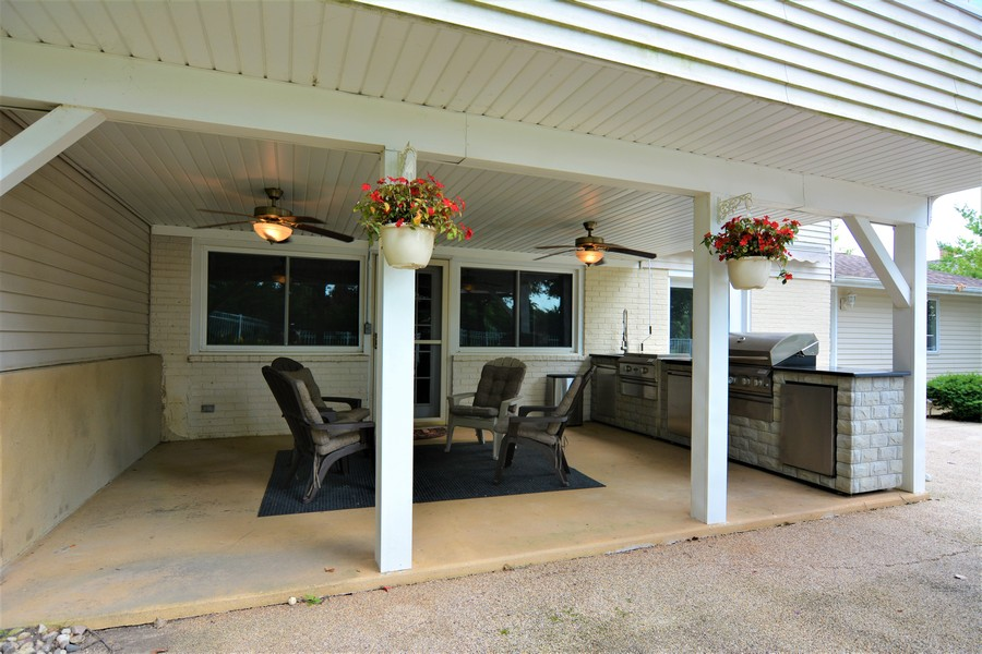 Real Estate Photography - 28812 W. Park Drive, Barrington, IL, 60010 - lower level walkout covered patio