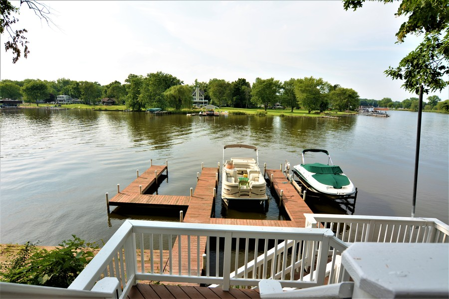 Real Estate Photography - 28812 W. Park Drive, Barrington, IL, 60010 - Amazing riverfront views from Bluff's edge. Perman