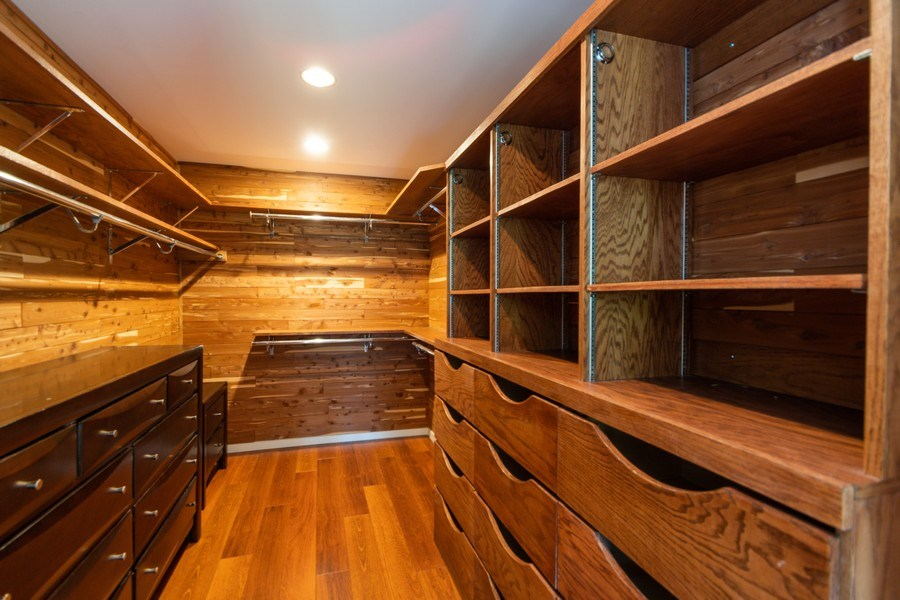 Real Estate Photography - 19641 Woodside Drive, New Lenox, IL, 60451 - Master Bedroom Closet