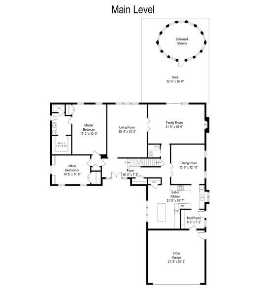Real Estate Photography - 1141 Oak Ridge Circle, Barrington, IL, 60010 - Floor Plan