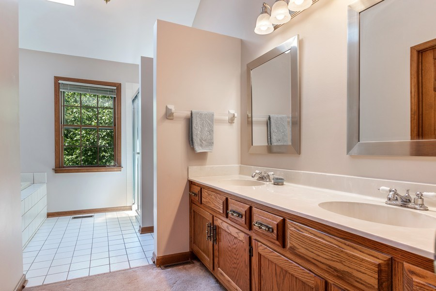 Real Estate Photography - 2345 Keim Road, Naperville, IL, 60565 - Master Bathroom