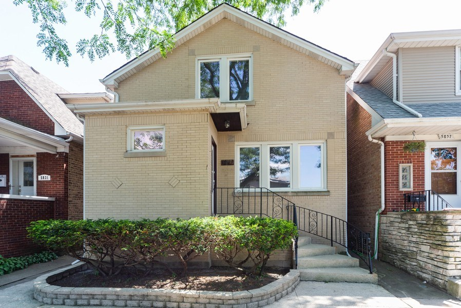 Real Estate Photography - 5833 W. Berenice Avenue, Chicago, IL, 60634 - Front View