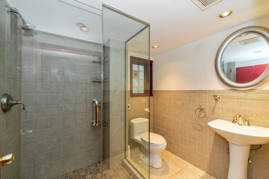Real Estate Photography - 5833 W. Berenice Avenue, Chicago, IL, 60634 - 2nd Bathroom