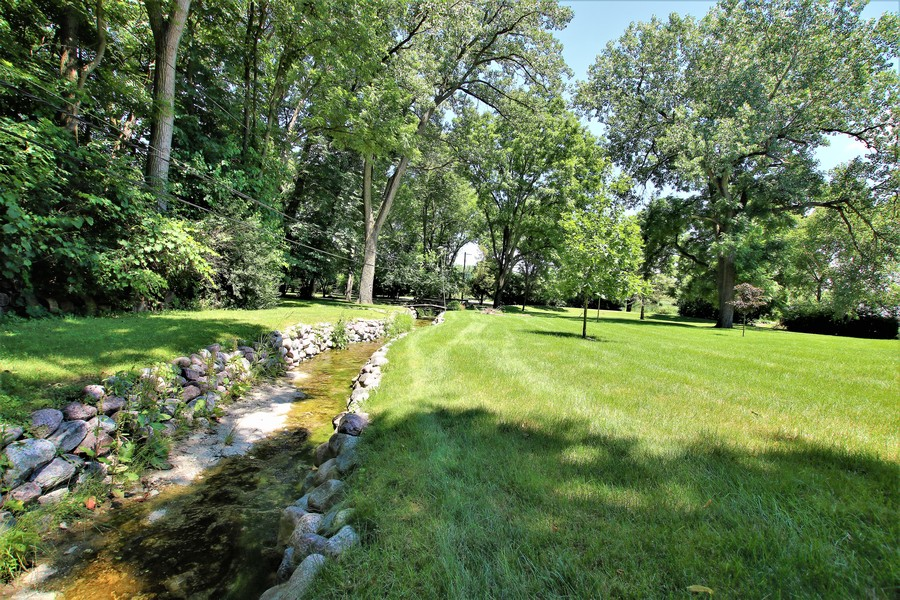 Real Estate Photography - 36W272 HICKORY HOLLOW Drive, Dundee, IL, 60118 - Creek Borders the Backyard