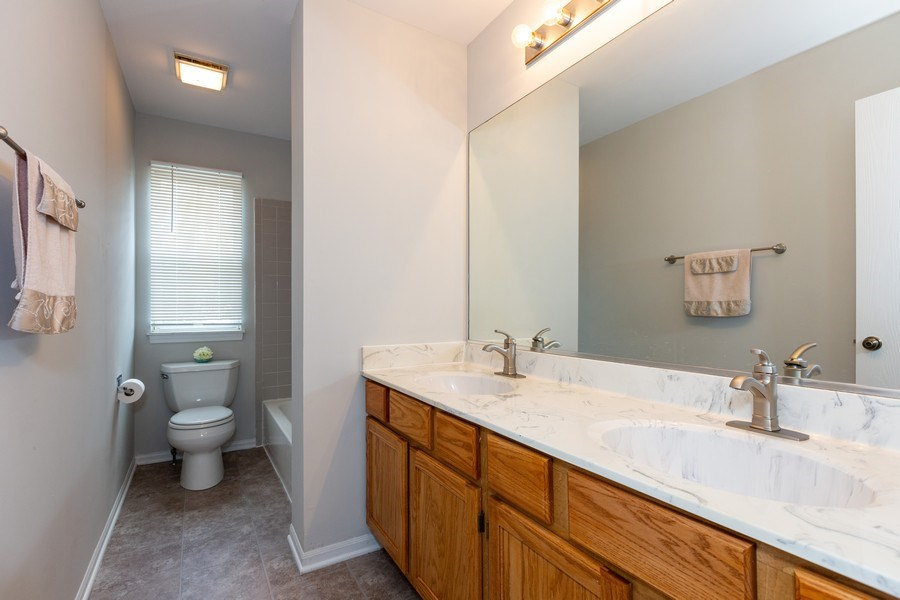 Real Estate Photography - 21151 West Covington Dr, Plainfield, IL, 60544 - Bathroom