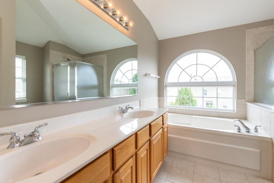 Real Estate Photography - 33 Bridlepath Drive, Lindenhurst, IL, 60046 - Master Bathroom