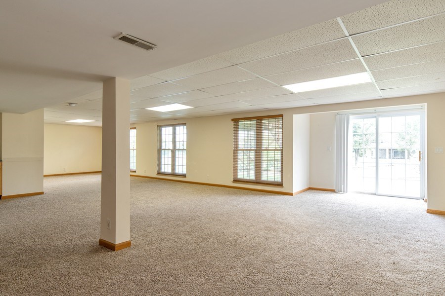 Real Estate Photography - 33 Bridlepath Drive, Lindenhurst, IL, 60046 - Walkout Lower level Recreation Room