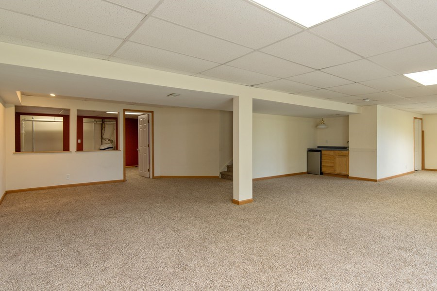 Real Estate Photography - 33 Bridlepath Drive, Lindenhurst, IL, 60046 - Recreation Room with Bar Area & Bonus Room