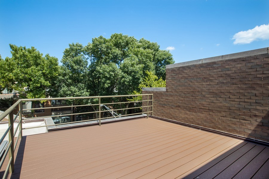 Real Estate Photography - 1938 North Maud Ave, Chicago, IL, 60614 - Master Bedroom Deck