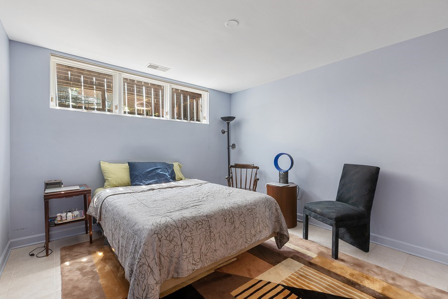 Real Estate Photography - 1938 North Maud Ave, Chicago, IL, 60614 - Lower Level Bedroom