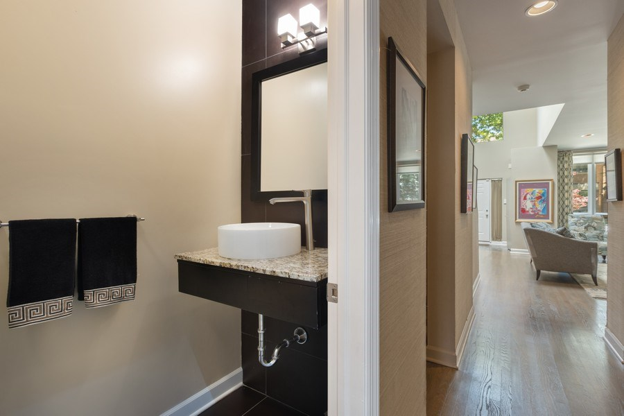 Real Estate Photography - 1938 North Maud Ave, Chicago, IL, 60614 - Powder Room