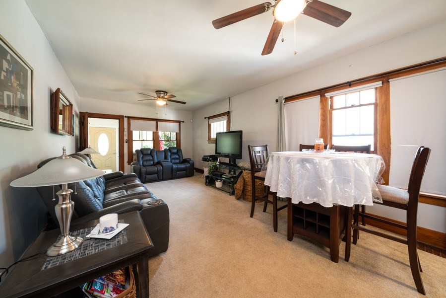 Real Estate Photography - 602 Wilder Street, Aurora, IL, 60506 - Living Room/Dining Room
