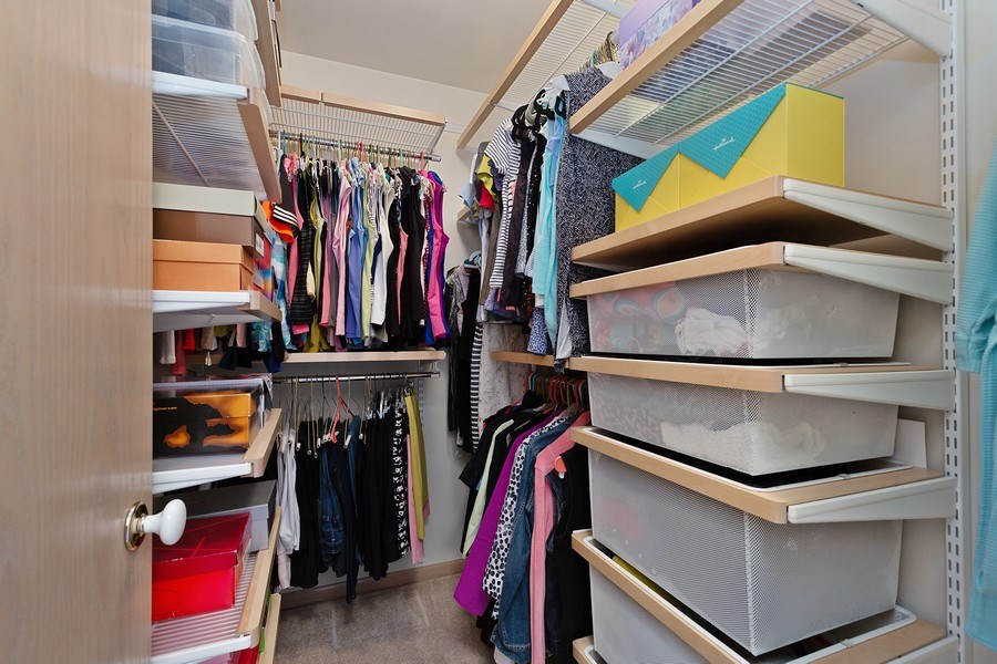 Real Estate Photography - 2264 Seaver Lane, Hoffman Estates, IL, 60169 - Master Bedroom Closet