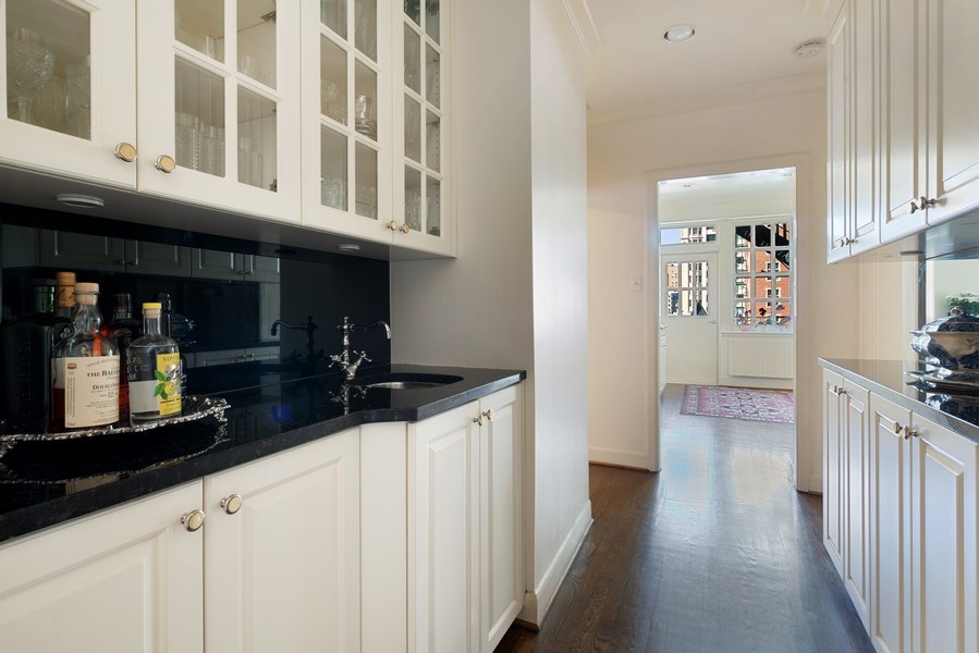 Real Estate Photography - 70 East Cedar St, 6W, Chicago, IL, 60611 - Butler's Pantry