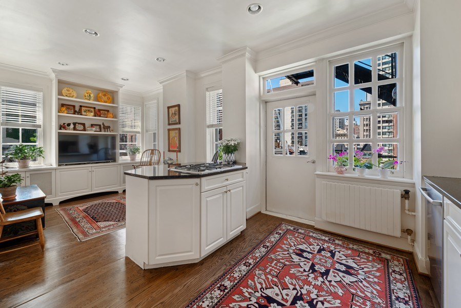 Real Estate Photography - 70 East Cedar St, 6W, Chicago, IL, 60611 - Family Room / Kitchen