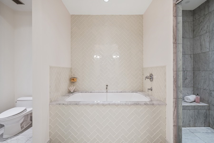 Real Estate Photography - 30 W. OAK Street, Unit 11B, Chicago, IL, 60610 - Master Bathroom