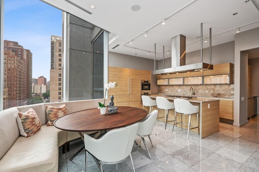 Real Estate Photography - 30 W. OAK Street, Unit 11B, Chicago, IL, 60610 - Kitchen / Breakfast Room