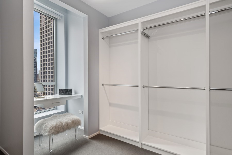 Real Estate Photography - 30 W. OAK Street, Unit 11B, Chicago, IL, 60610 - Master Bedroom Closet/Vanity