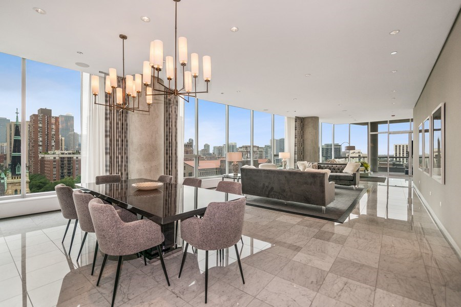 Real Estate Photography - 30 W. OAK Street, Unit 11B, Chicago, IL, 60610 - Living Room / Dining Room