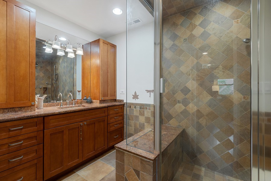 Real Estate Photography - 1927 Lincoln Street, Evanston, IL, 60201 - Master Bath (Full) with Steam Shower