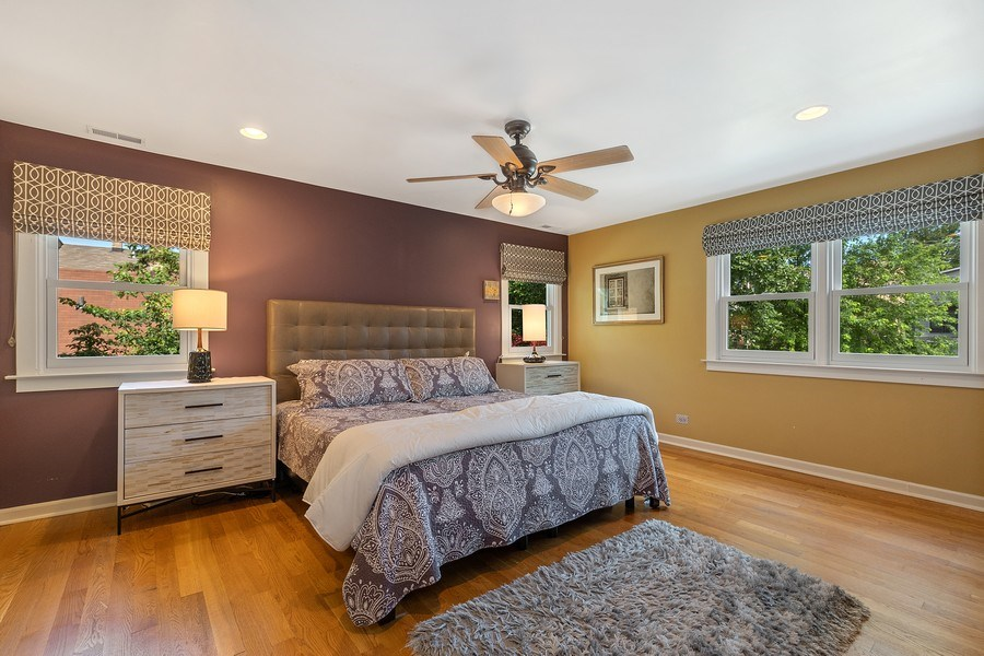Real Estate Photography - 1927 Lincoln Street, Evanston, IL, 60201 - Master Bedroom (Upstairs)
