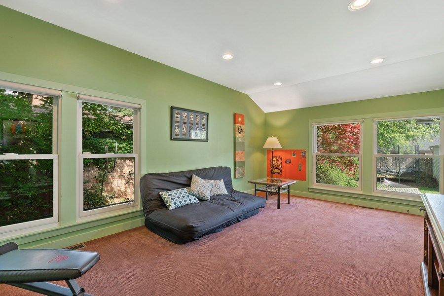 Real Estate Photography - 1927 Lincoln Street, Evanston, IL, 60201 - 1st Floor Bedroom (5th)/ Office / Playroom