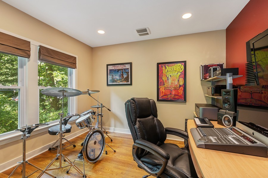 Real Estate Photography - 1927 Lincoln Street, Evanston, IL, 60201 - 1st Floor Bonus Room - Office / Music / Den