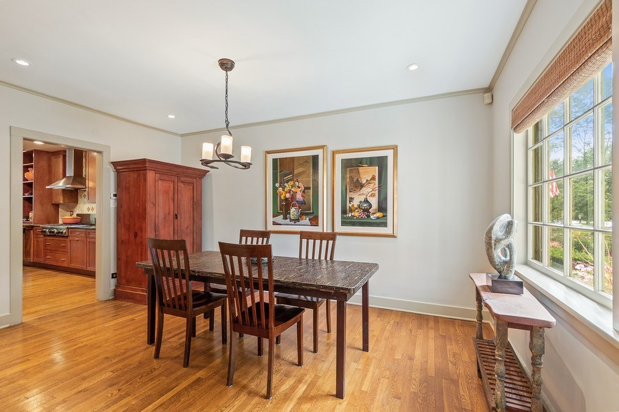 Real Estate Photography - 1927 Lincoln Street, Evanston, IL, 60201 - Dining Room with Kitchen View