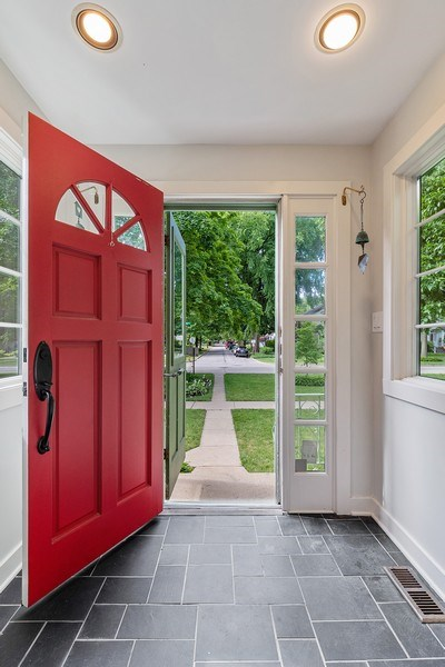 Real Estate Photography - 1927 Lincoln Street, Evanston, IL, 60201 - Front Foyer / Mudroom