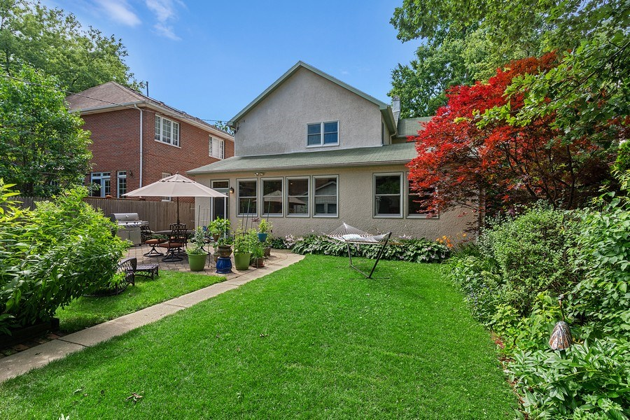 Real Estate Photography - 1927 Lincoln Street, Evanston, IL, 60201 - Rear View - Backyard